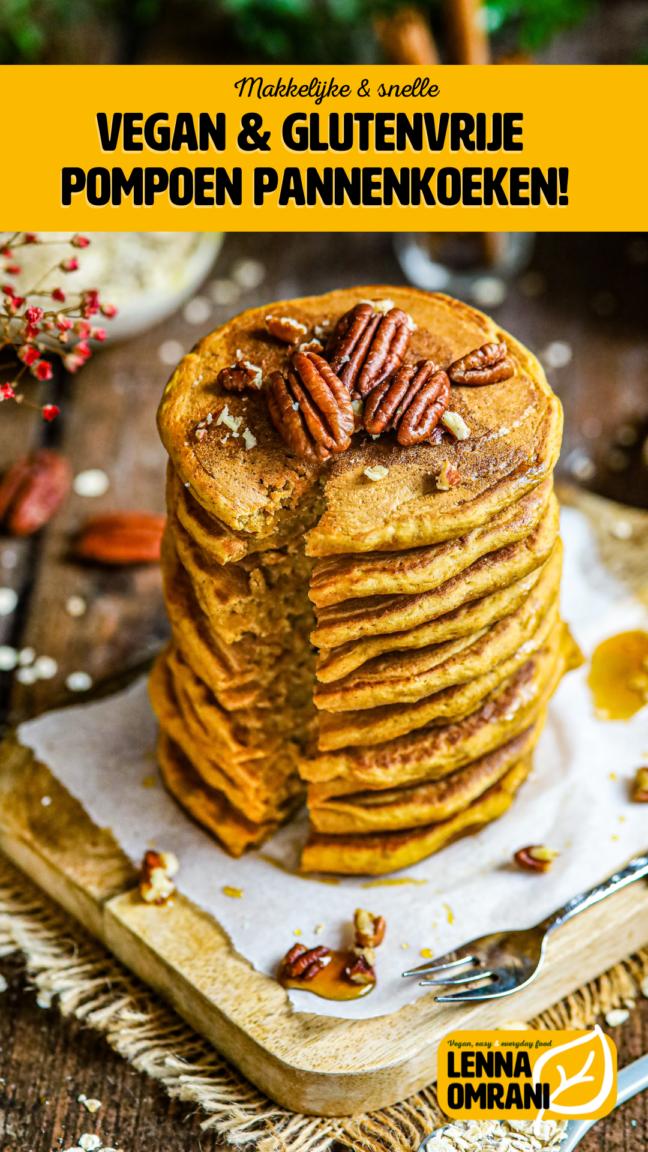 vegan glutenvrije pompoen pannenkoeken