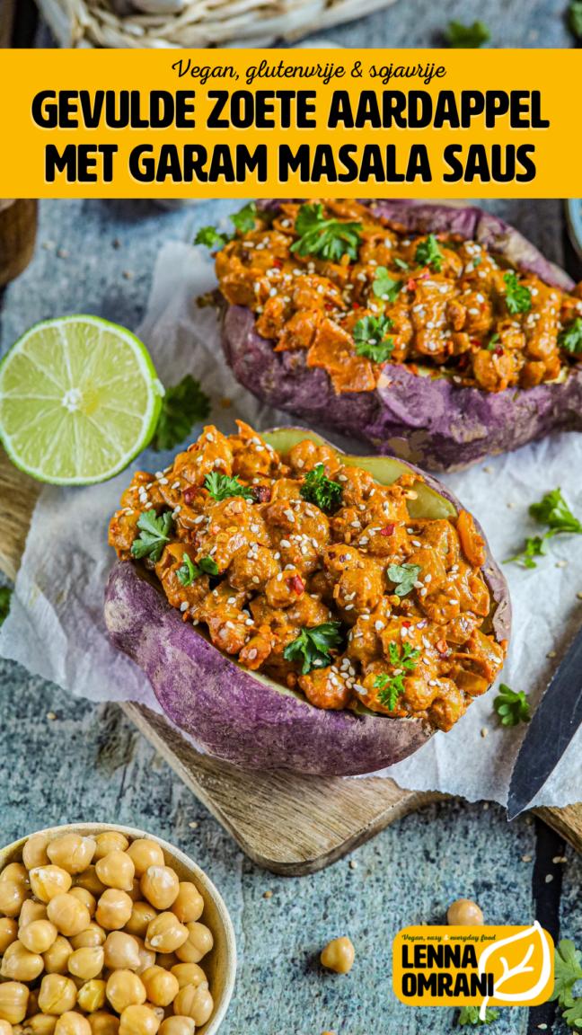 gevulde zoete aardappel garam masala